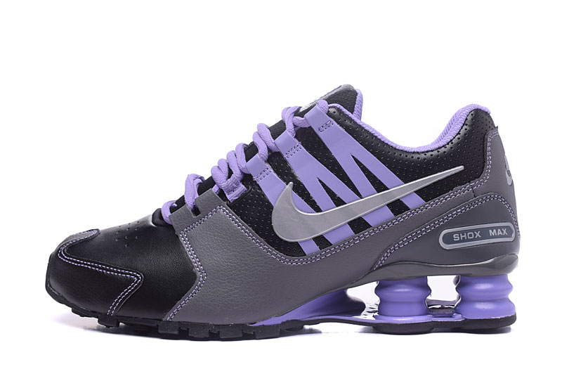 Nike Shox Avenue 803 Women Shoes Black Gray Purple